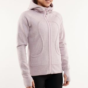 Lululemon Scuba Hood Silver Spoon Pig PInk Heather